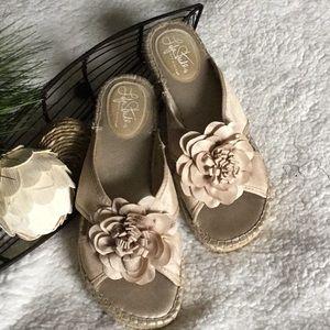 Soft gold sandals